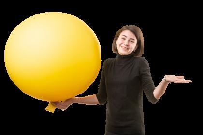 Elena mit luftballon
