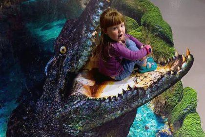 Krokodil maedchen