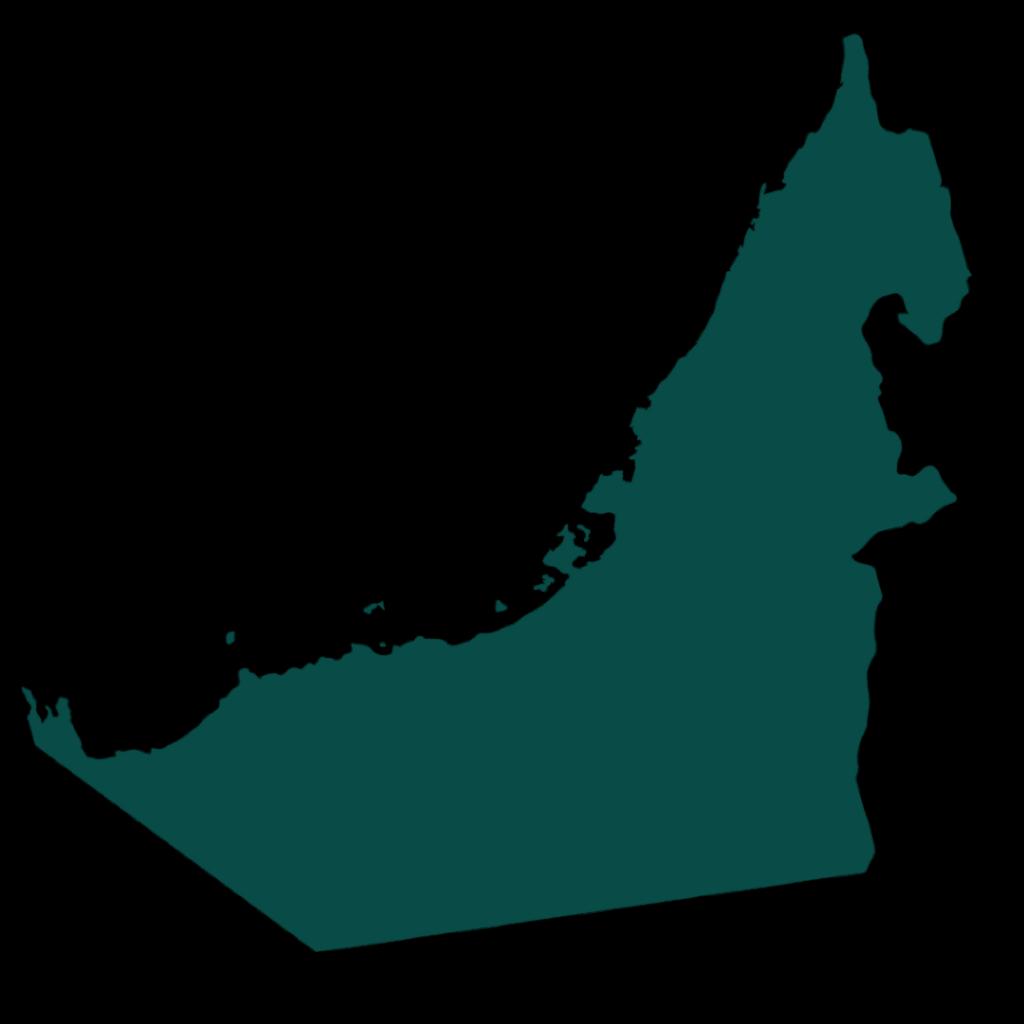 Arabien landkarte silhouette