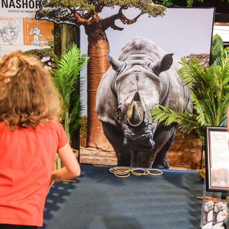 Nashorn wurfspiel